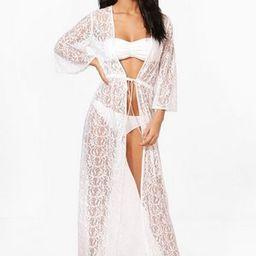 Lace Maxi Beach Kimono | Boohoo.com (US & CA)