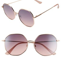 56mm Gradient Octagonal Sunglasses | Nordstrom