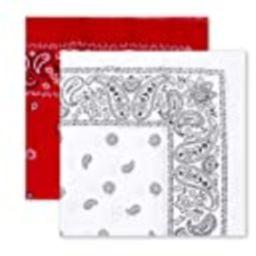 Levi's Men's Bandana, White/Red, One Size   Amazon (US)