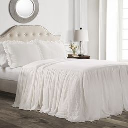 Ruffle Skirt 3-Piece Bedspread Set | Walmart (US)