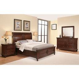Abbyson Caprice Cherry Wood Bedroom Set (6 Piece) (Rubberwood/Wood - Cherry - King) | Overstock