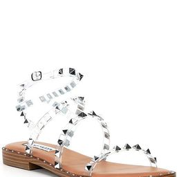 Travel Clear Studded Sandals | Dillards
