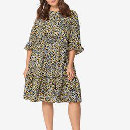 Ruffle-Trim Tiered Dress by ellos®   Jessica London