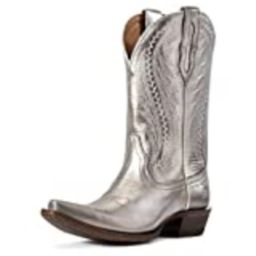 ARIAT Women's Tailgate Western Boot Silver Metallic   Amazon (US)