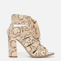 Zola Lace up Heeled Bootie   JustFab