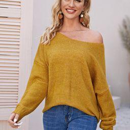 Drop Shoulder Oversized Sweater | SHEIN