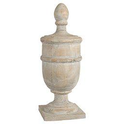 Whitewashed Finial Decorative Figurine | Target