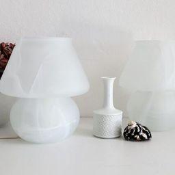 Kleine Murano Glas Vintage MUSHROOM Tischleuchte mit verschwommenem weißen matten Glas, Murano G...   Etsy (DE)