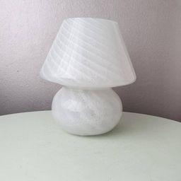 Schöne weiße Glas Pilz Tischlampe, 80er Jahre, Murano, Italien   Etsy (DE)