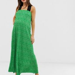 ASOS DESIGN Maternity ditsy floral plisse midi dress   ASOS US