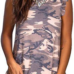 Womens Tank Tops Loose Fit Sleeveless Shirt Casual | Amazon (US)