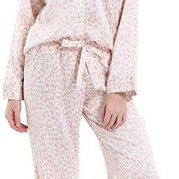 Serenedelicacy Women's Silky Satin Pajamas, Button Up Long Sleeve PJ Set Sleepwear Loungewear | Amazon (US)