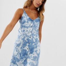 Wednesday's Girl button down cami dress in acid wash | ASOS US