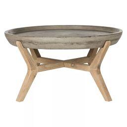 Wynn Round Coffee Table - Dark Gray - Safavieh | Target