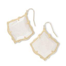 Kirsten Gold Drop Earrings in White Pearl   Kendra Scott