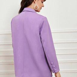 SHEIN Premium Button Front Longline Blazer | SHEIN