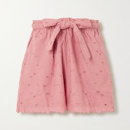 Wilma Butfiet belted broderie anglaise cotton shorts | Net-a-Porter (US)