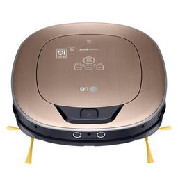 Hom-Bot Smart Robotic Vacuum Cleaner with WiFi Enabled in Metal Gold | The Home Depot