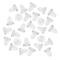 HIRIRI Hot Sale 150 Pieces Clear Clutch Earring Safety Backs For Fish Hook Earrings (White) | Amazon (US)