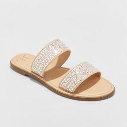 Women's Kersha Embellished Slide Sandals - A New Day™ | Target