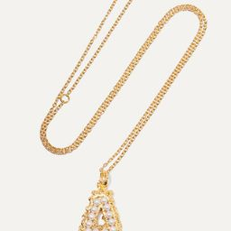 Alphabet gold-plated pearl necklace | Net-a-Porter (Global excpt. US)