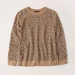 Side-Snap Crewneck Sweatshirt   Abercrombie & Fitch US & UK