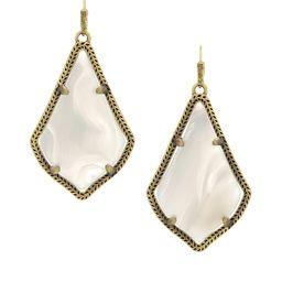 Alex Earrings in White Banded Agate | Kendra Scott