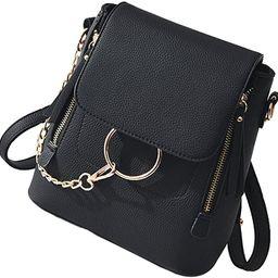 HENGSHENG Fashion Women Crossbody Backpack Purse Small Pu Leather Shoulder Bag Ladies Cute Chain ... | Amazon (US)