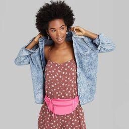 Women's Long Sleeve Button-Down Shirt - Wild Fable™ Acid Wash | Target