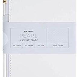 Blackwing Pearl Slate Journal, Pearl White Hardcover Notebook (160 Pg.)   Amazon (US)