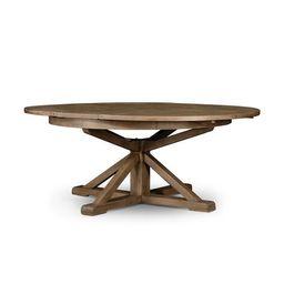Cintra Extension Dining Table in Rustic Sundried Ash – BURKE DECOR | Burke Decor