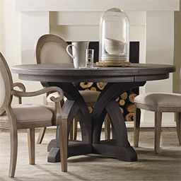Hooker Furniture Corsica Round Extendable Dining Table in Dark Wood | Amazon (US)