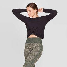 Women's Twist Front Long Sleeve T-Shirt - JoyLab™ | Target