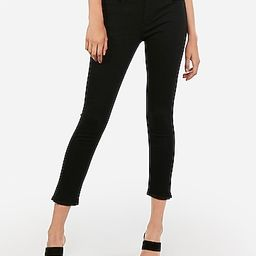 Mid Rise Black Cropped Skinny Jeans   Express