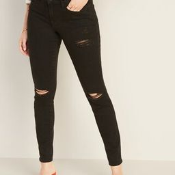 Mid-Rise Distressed Pop Icon Skinny Jeans for Women   Old Navy (US)