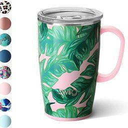 Swig Life 18oz Triple Insulated Travel Mug with Handle and Lid, Dishwasher Safe, Double Wall, and... | Amazon (US)