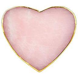 rockcloud 1 PC Gold Plated Edge Rose Quartz Crystal Stones,Coasters Cup Mat, Home Decoration Heal... | Amazon (US)