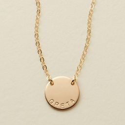 Mini Zola Disc Necklace | Made By Mary