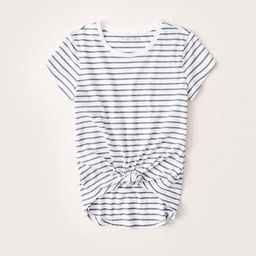 Knotted Crew Tee   Abercrombie & Fitch US & UK