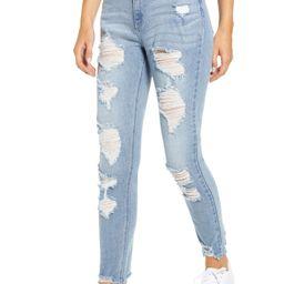 Ripped Chewed Hem Mom Jeans | Nordstrom