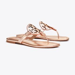 Tory Burch Miller Sandal, Metallic Leather: Women's Shoes  | Tory Burch | Tory Burch (US)