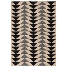 Anette Flatweave Ivory/Black/Gray Indoor / Outdoor Area Rug   Wayfair North America