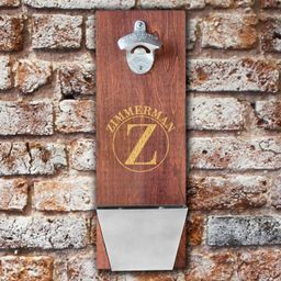 Personalized Wooden Bottle Opener with Cap Catcher - Bar Accessories - Home Decor - Mancave Gifts...   Etsy (US)