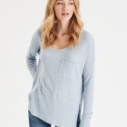 AE Soft Plush Oversized Scoop Neck T-Shirt | American Eagle Outfitters (US & CA)