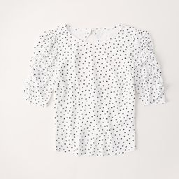 Puff Sleeve Top | Abercrombie & Fitch US & UK