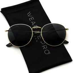Reflective Lens Round Trendy Sunglasses | Amazon (US)