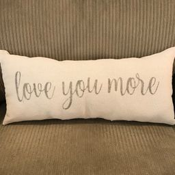 Love You More Pillow | Etsy (US)