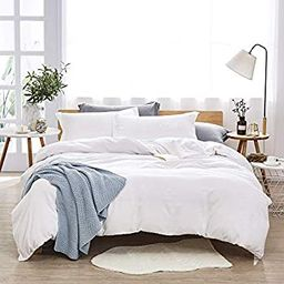 Dreaming Wapiti Duvet Cover King, 100% Washed Microfiber 3pcs Bedding Set,Solid Color - Soft and ... | Amazon (US)