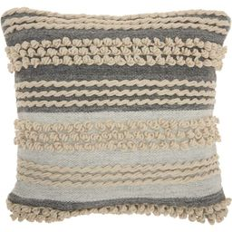 "Ocean Blue Ellijay Striped 20"" Throw Pillow | Wayfair North America"