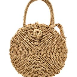 JiaHao Women's Handbags BROWN - Brown Round Woven Crossbody Bag | Zulily